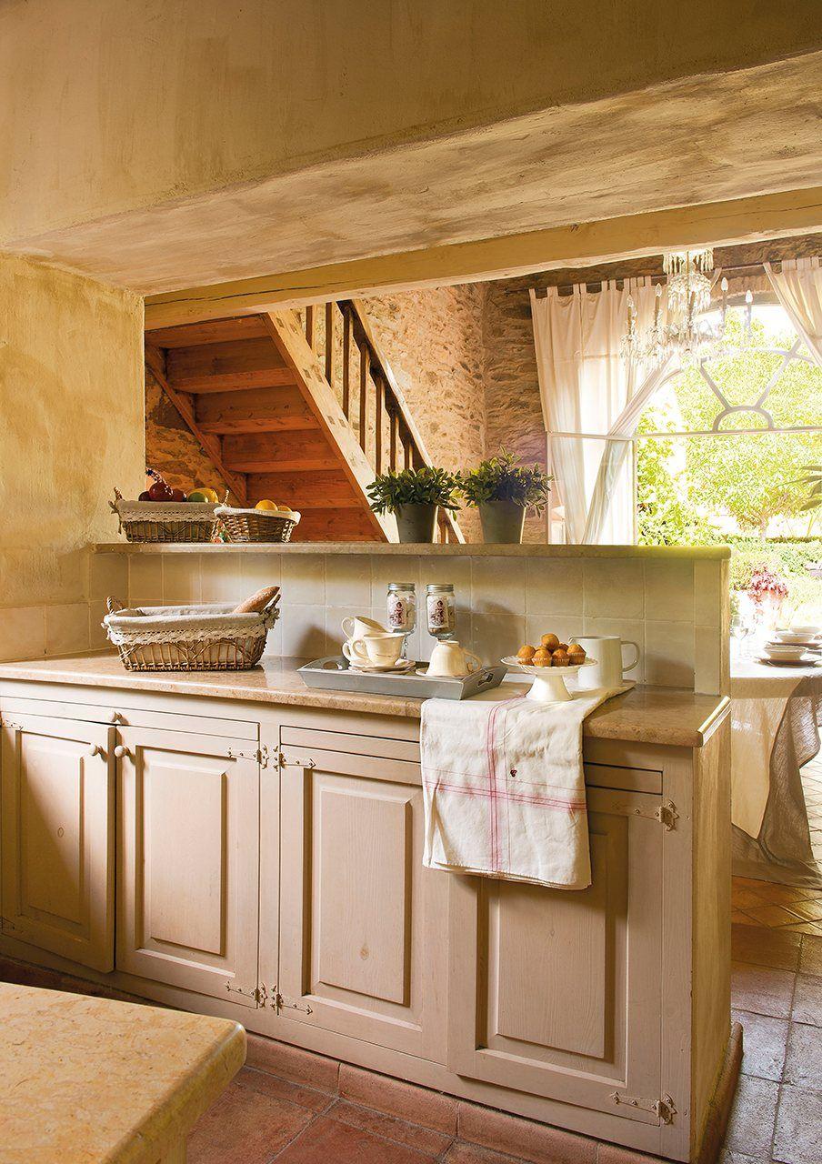 Al otro lado del tabique decoraci n r stica cocina comedor cocinas y tabique - Escuela de cocina madrid casa de campo ...