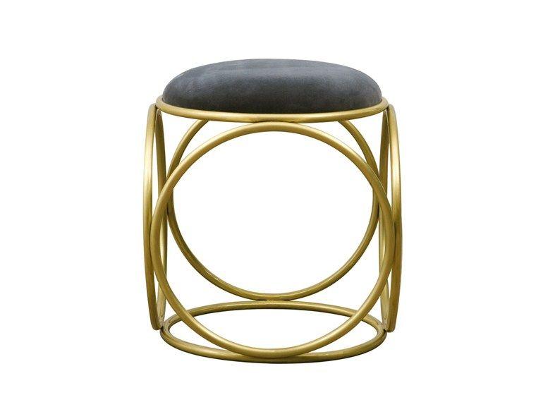 Brass Rings Gepolsterter Hocker By Hamilton Conte Paris Design Fabian Pellegrinet Conte Gepolsterter Hocker Hocker Polster