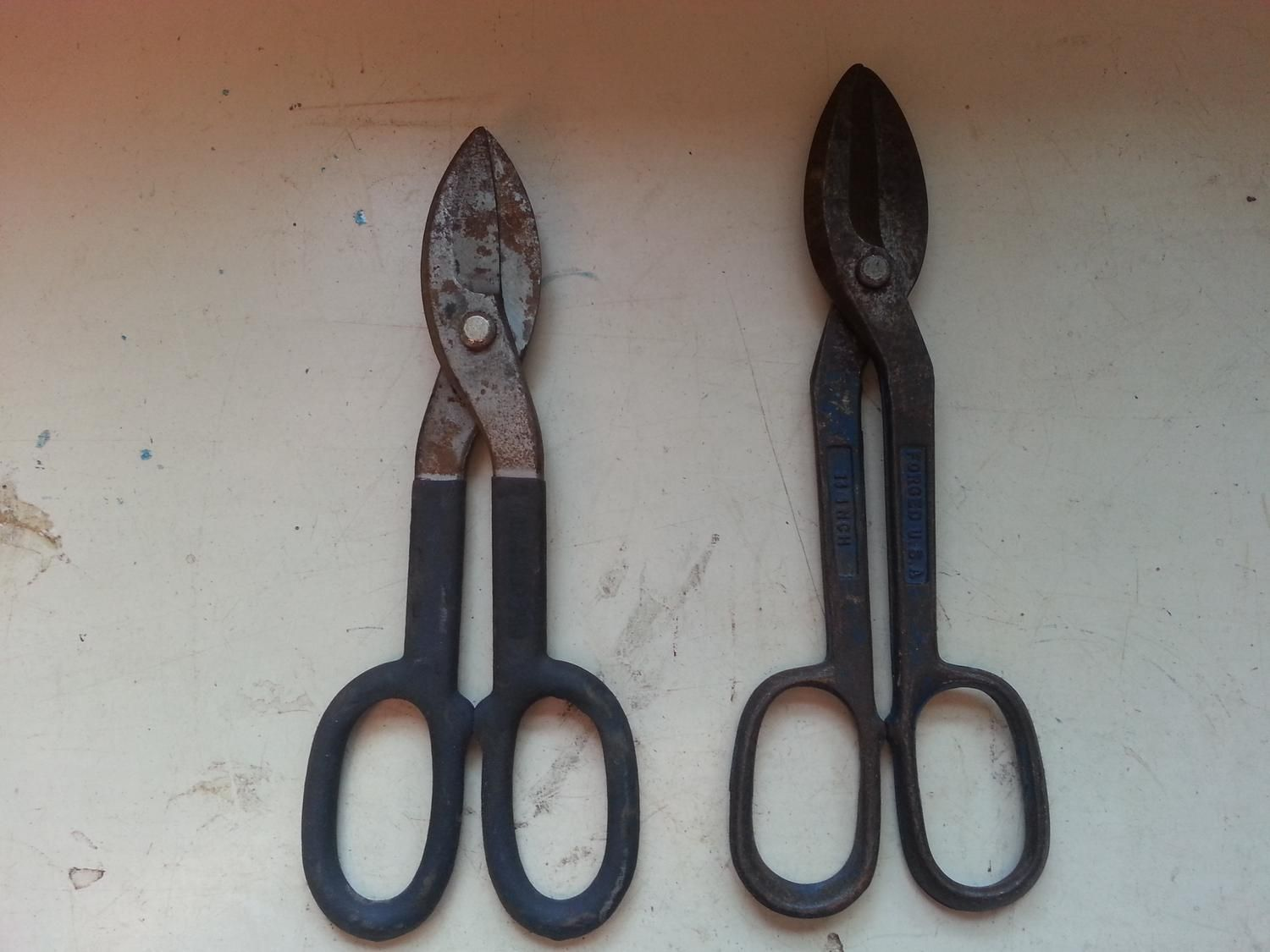 For Sale: Tin snip's REDUCED. - Used for cutting metal. $5.00  for both.