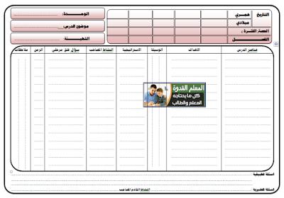 نموذج تحضير دراسات اجتماعية للمرحلة الإبتدائية والإعدادية والثانوية صفحة واحدة Word و Pdf Education Clip Art Borders Word File