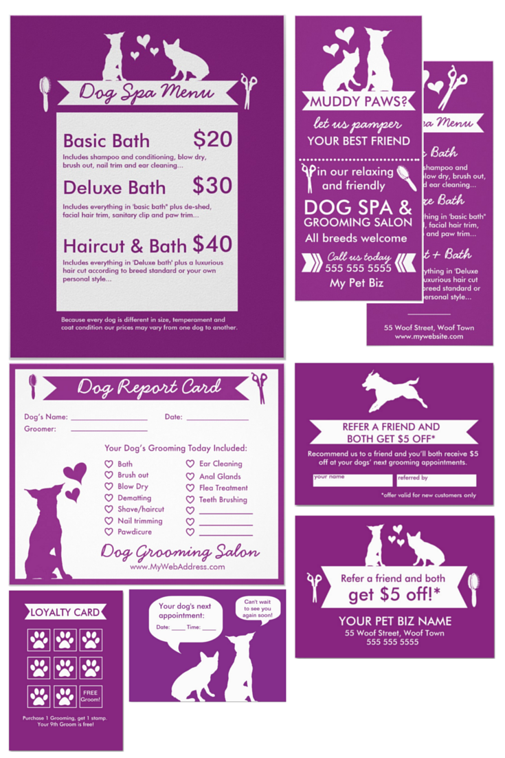 I designed this marketing toolkit for dog groomers just like you ...