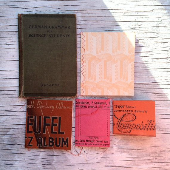 Hand-made notebooks made with vintage by VintageCuriosityShop