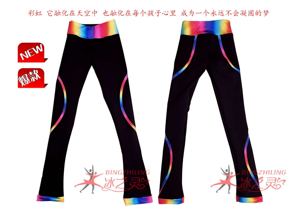 59.00$  Watch here - http://alisap.worldwells.pw/go.php?t=32721301783 - girls ice skating trousers colorful ice skating suits for girls custom children figure skating apperal hot sale free shipping 59.00$