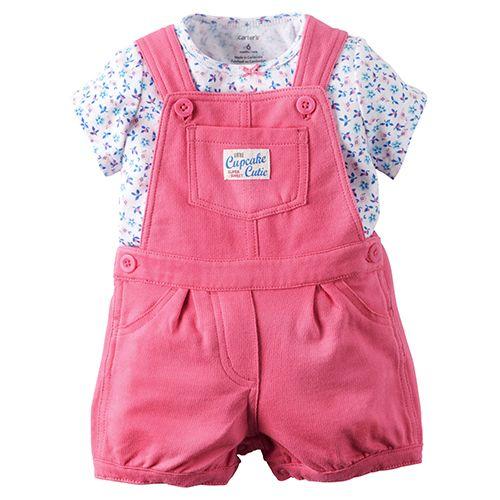 Baby Girl (3-24M) Carter`s Floral Tee Romper Set