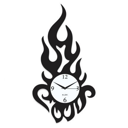 Klok Modern Flame Wall Clock Black Add Oodles Of Style To Your Home With An Exciting Range Of Designer Furniture Furnishings Decor It Saatler Dekor Tasarim