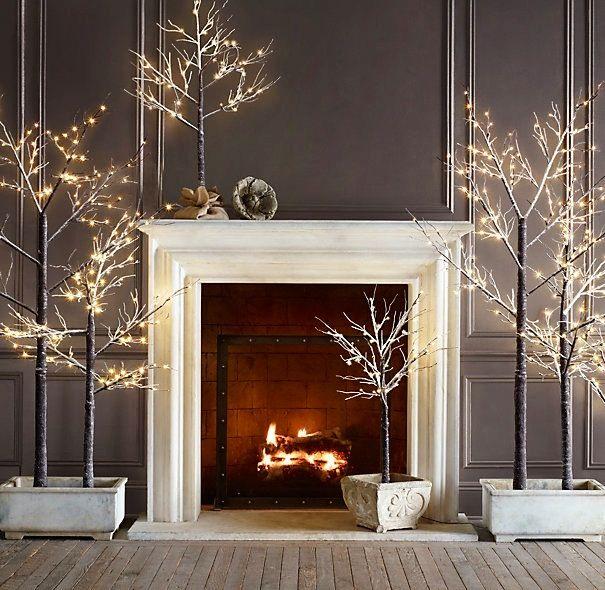 Restorations Hardware Home Decor Silver Holiday Decor Modern Christmas Holiday Decor