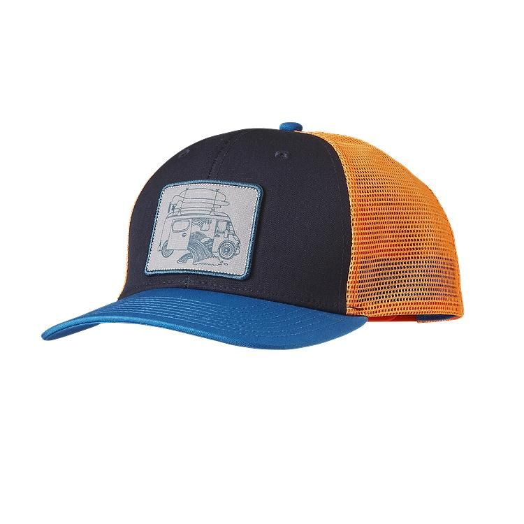 8d7a85a3b110a Our classic mid-crown trucker hat with organic cotton front polyester mesh  back