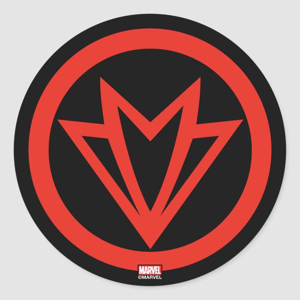 Avengers Classics Falcon Icon Classic Round Sticker Zazzle Com Avengers Painting Avengers Logo Marvel Logo