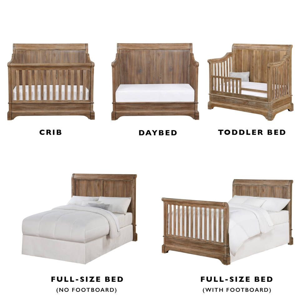 Pembrooke 5 In 1 Convertible Crib Convertible Crib Crib Toddler Bed Wooden Baby Crib