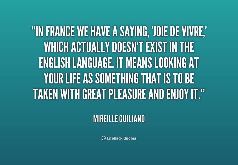 on against joie de vivre Despite its cranky title, this lively, unpredictable collection of essays is a joy to  read, and read again though lopate rails against the enforced gaiety of dinner.
