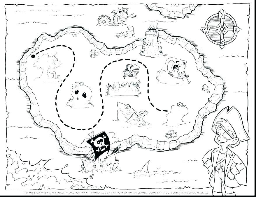 treasure map coloring page free printable map coloring