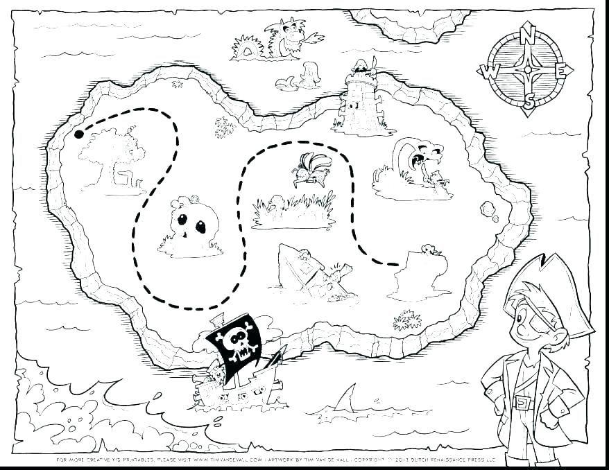 Treasure Map Coloring Page Free Printable Map Coloring Pages World Map Printable Color Treasure Map Col Pirate Coloring Pages Treasure Island Map Treasure Maps