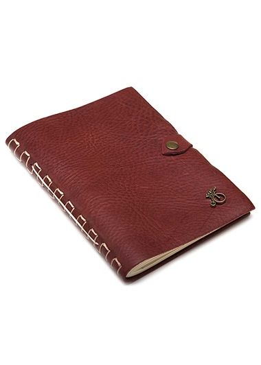 Photo of Handmade Leather Notebook Brown