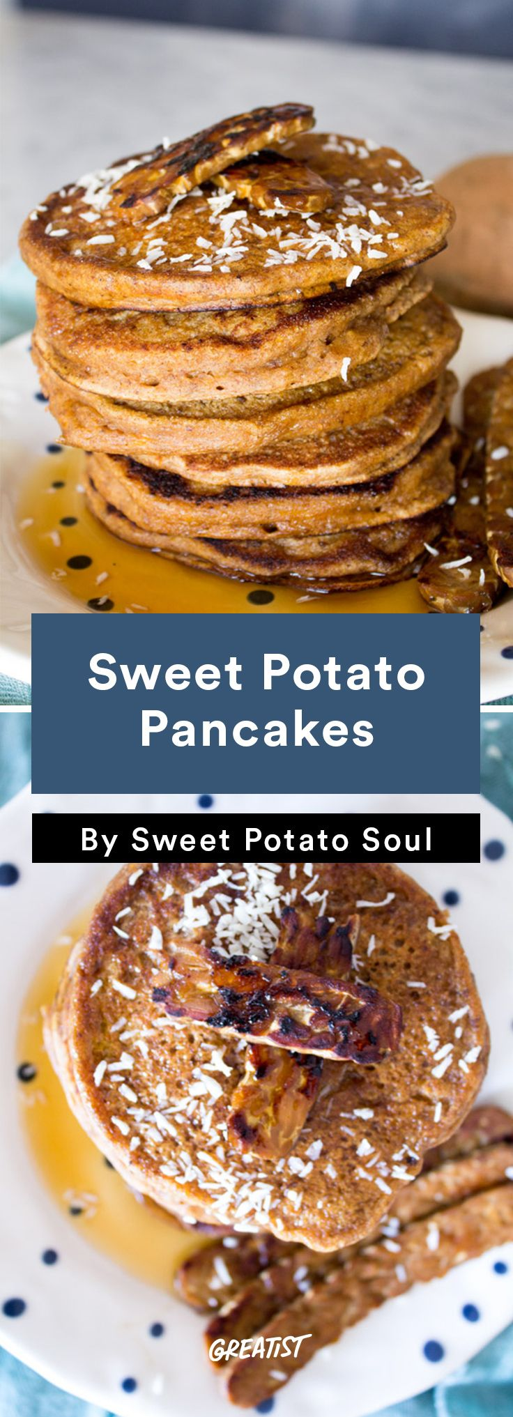 6. Sweet Potato Pancakes #sweet #potato #recipes…