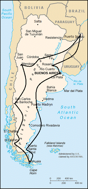 Argentina Is Such A Huge Country That Travelling By Bus Becomes A - Argentina bus map