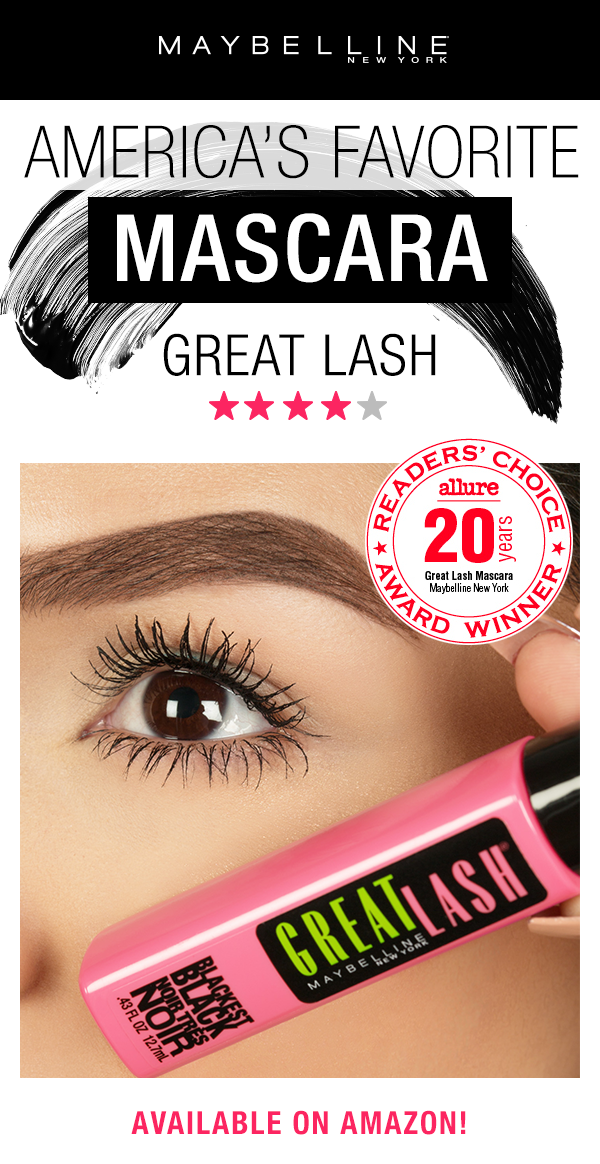 c9827e6a0ae Amazon.com : Maybelline Makeup Great Lash Washable Mascara, Brownish Black  Volumizing Mascara, 0.43 fl oz : Beauty