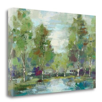 Tangletown Fine Art 'Forest at Dawn Crop' by Silvia Vassileva Painting Print on Wrapped Canvas