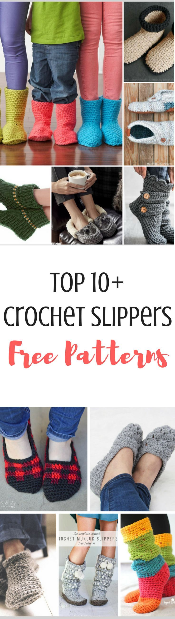 Top 10 Free Crochet Slippers Patterns | Patrones amigurumi, Patrones ...