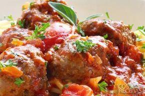 Receita de Almôndegas ao molho em receitas de carnes, veja essa e outras receitas aqui!