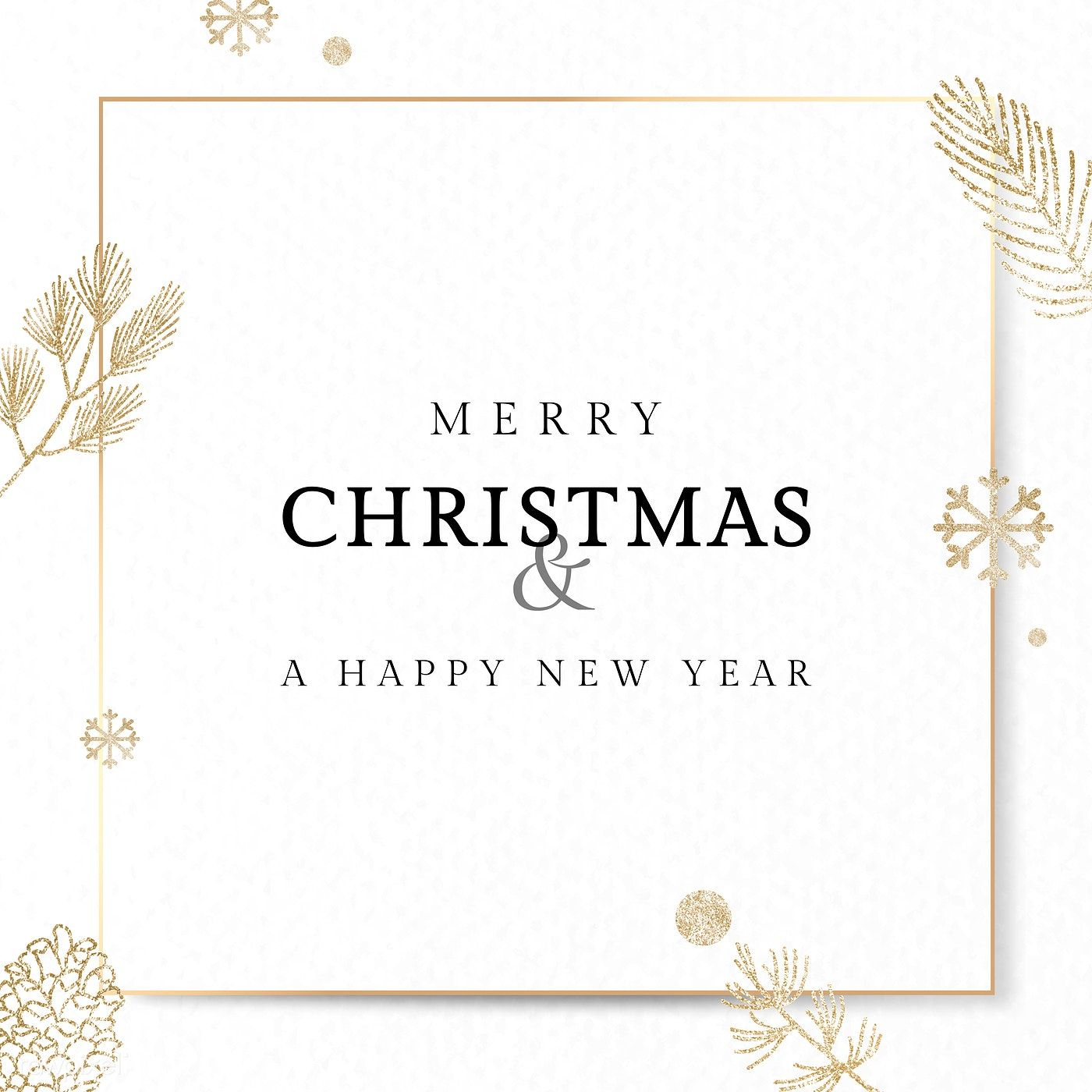 Christmas Gold Frame Social Ads Template Vector Premium Image By Rawpixel Com Aew Merry Christmas Card Greetings Christmas Card Template Gold Christmas