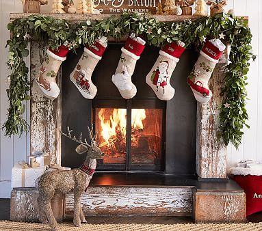 Woodland Stocking Collection Christmas Centerpieces Christmas