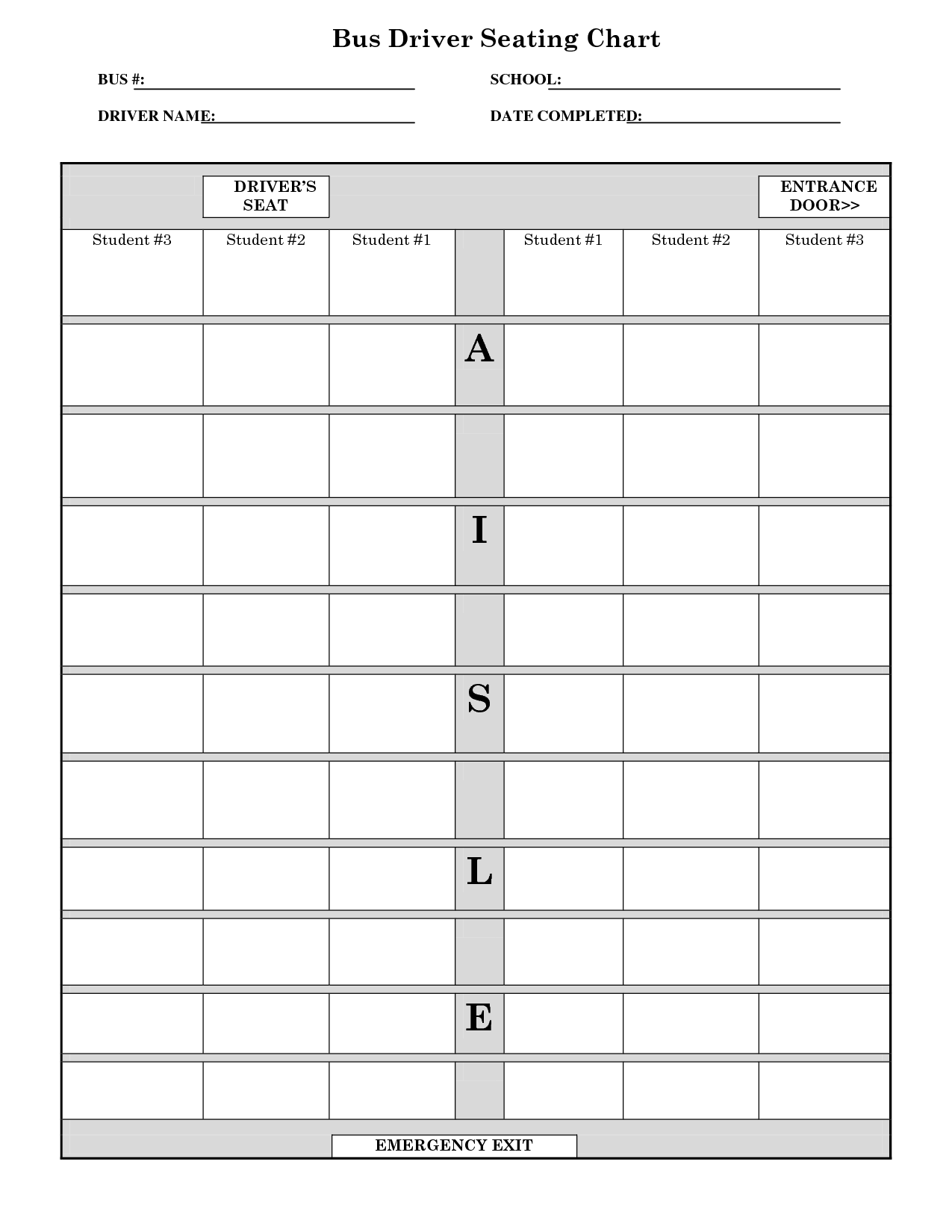 school bus seating chart template