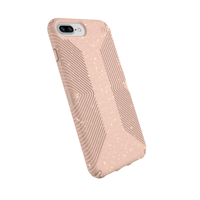 Speck Presidio Grip Glitter Iphone 8 Plus 7 6S Plus & 6 Cases Geode Purple With Gold Glitter Taro