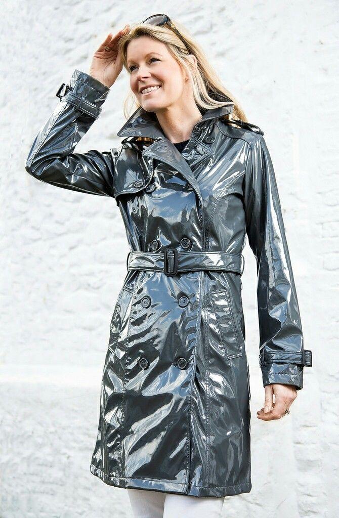 Raincoat Jacket Rain Wear, Plastic Trench Coat