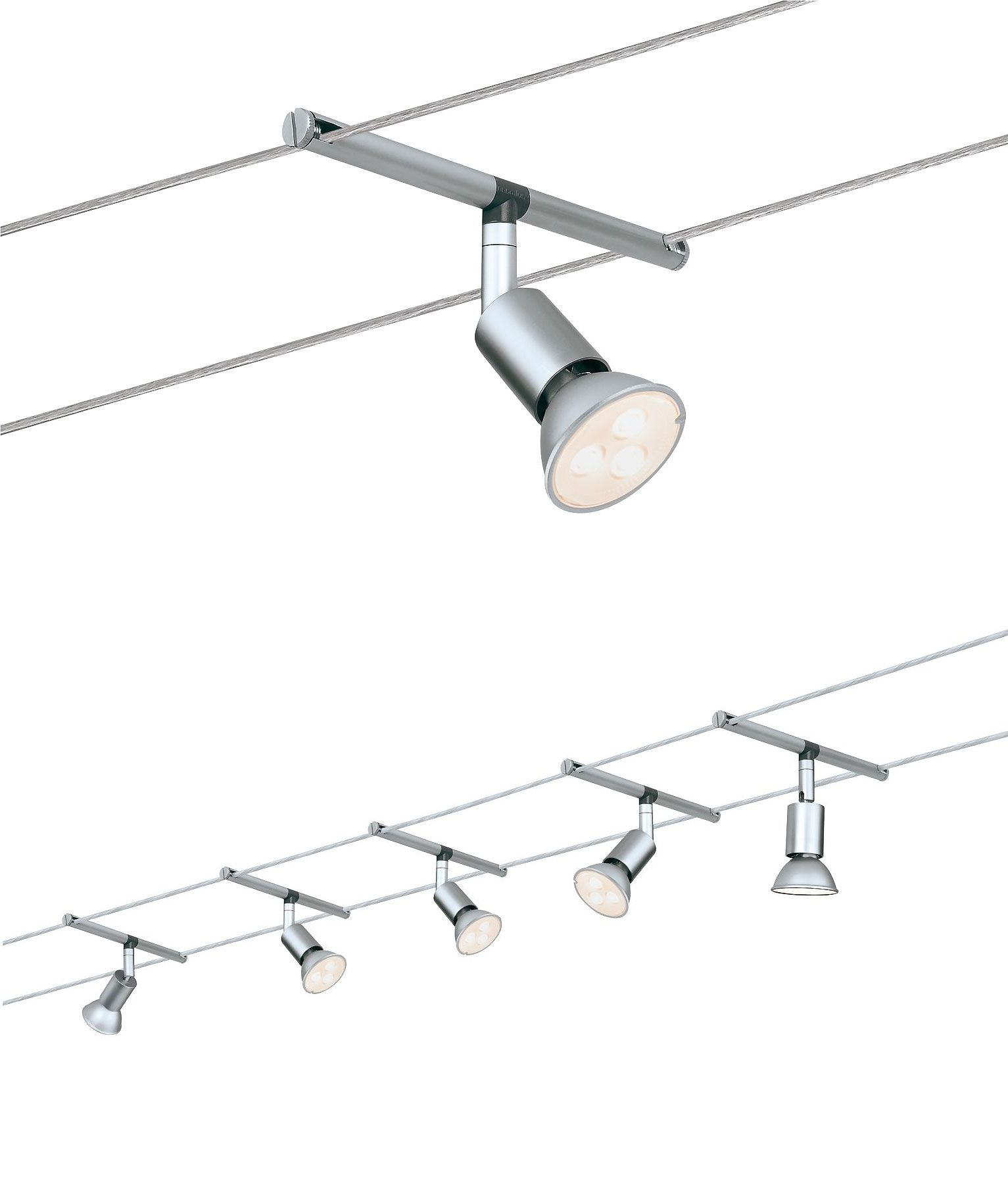 Ready To Install Led Tension Wire Spotlight System