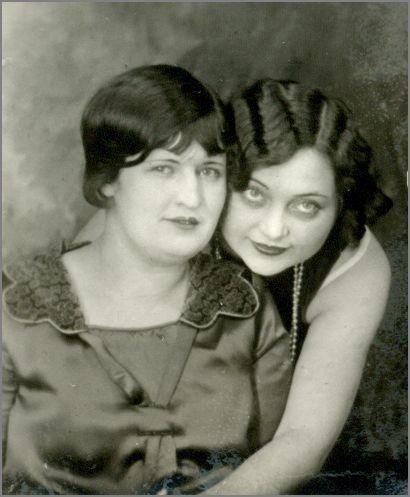 svart vintage lesbisk