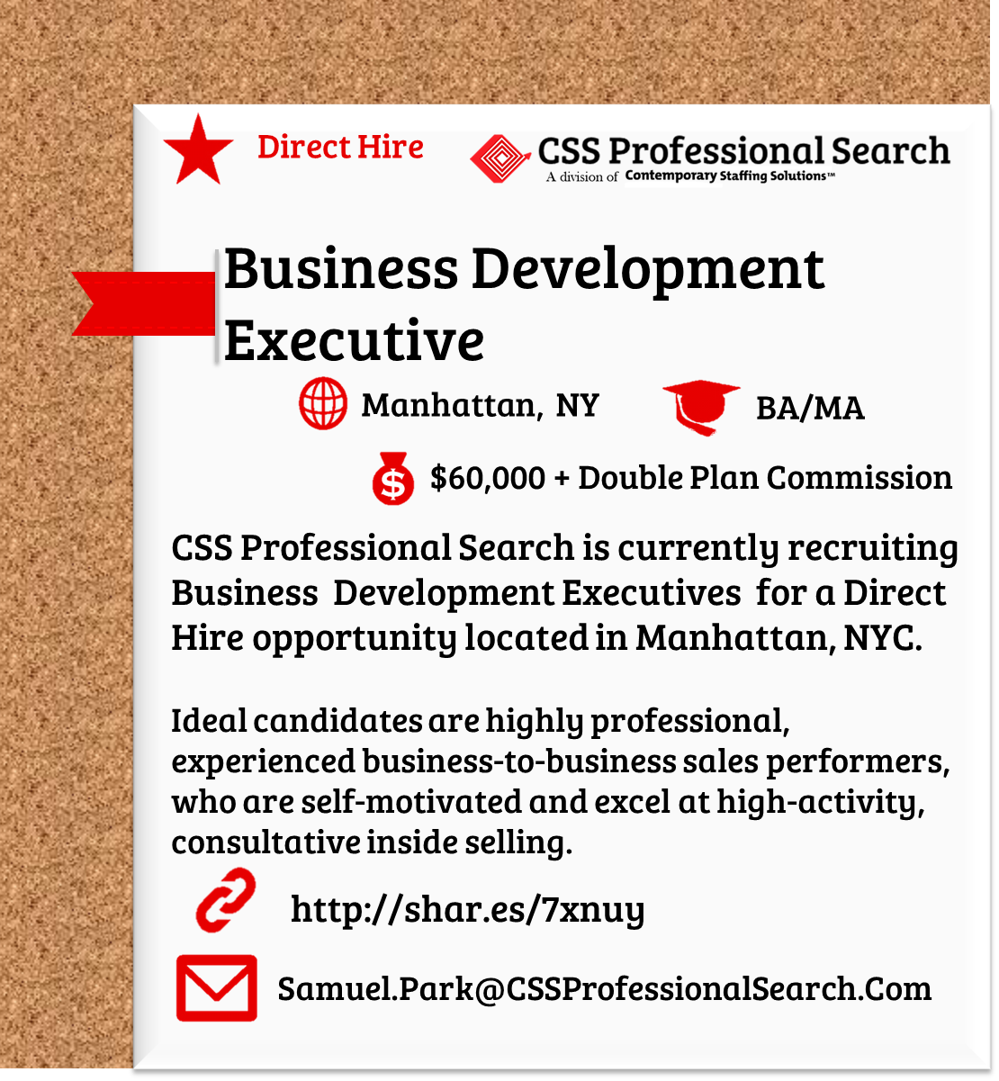 CSS Professional Search is currently recruiting Business Development ...