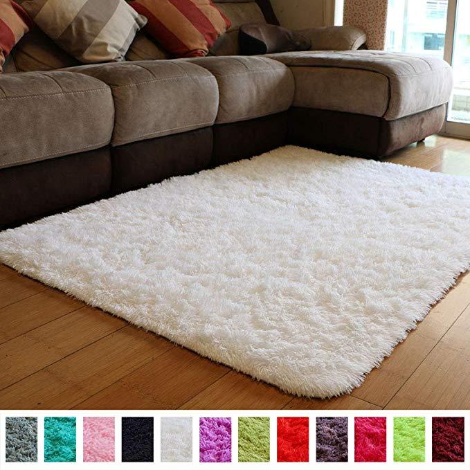 Amazon Com Pagisofe Soft Comfy White Area Rugs For Bedroom Living Room Fluffy Shag Fur Carpet For Kids Nurser Kid Room Carpet Girls Room Rugs Carpets For Kids