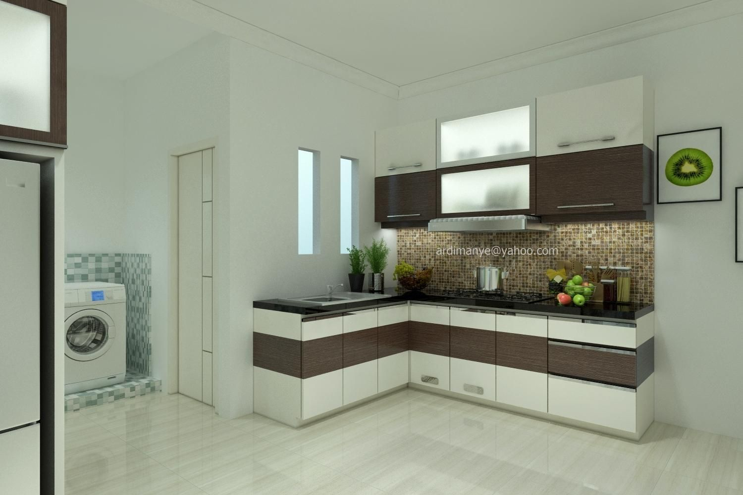 Interior dapur minimalis kitchen set makassar