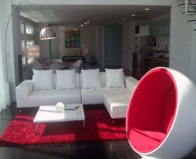 Déco salon en couleur rouge - quelques idées magnifiques et tendance ...