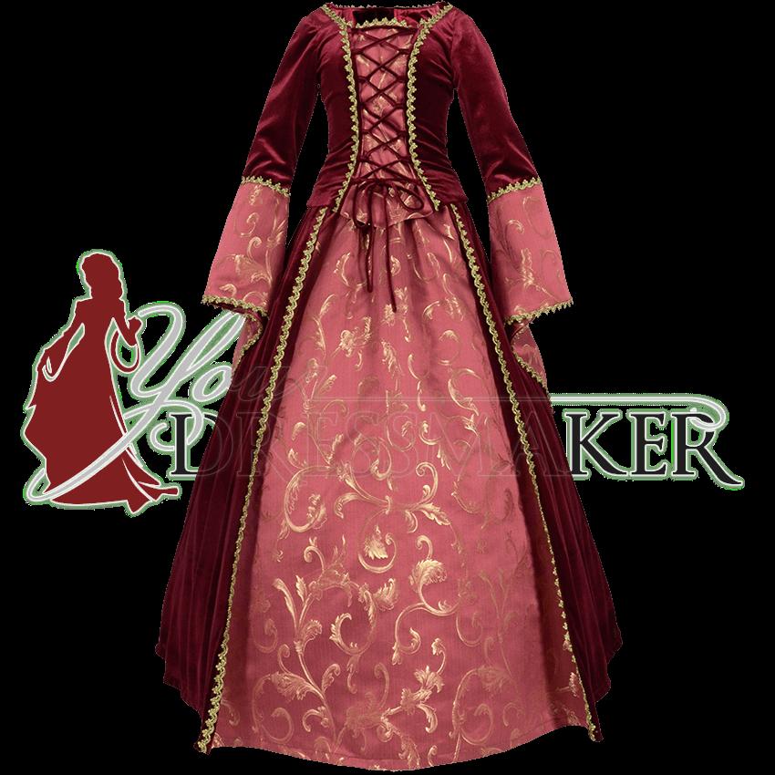 Handmade from Brocade Medieval Renaissance Maiden Dress Gown