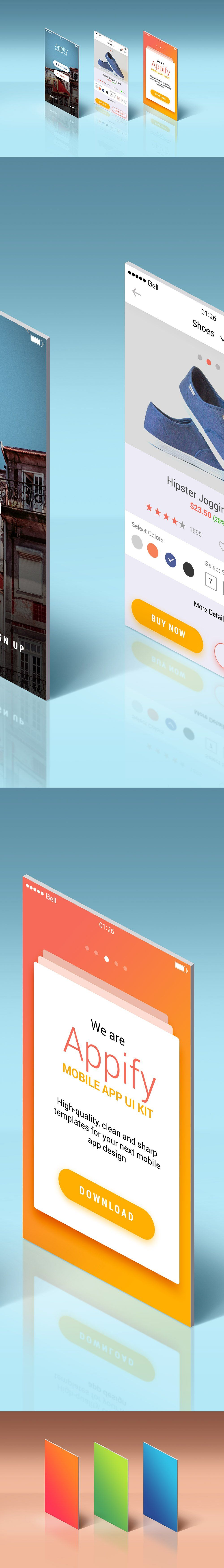 Featuring the inspiring free psd mockup of app screens