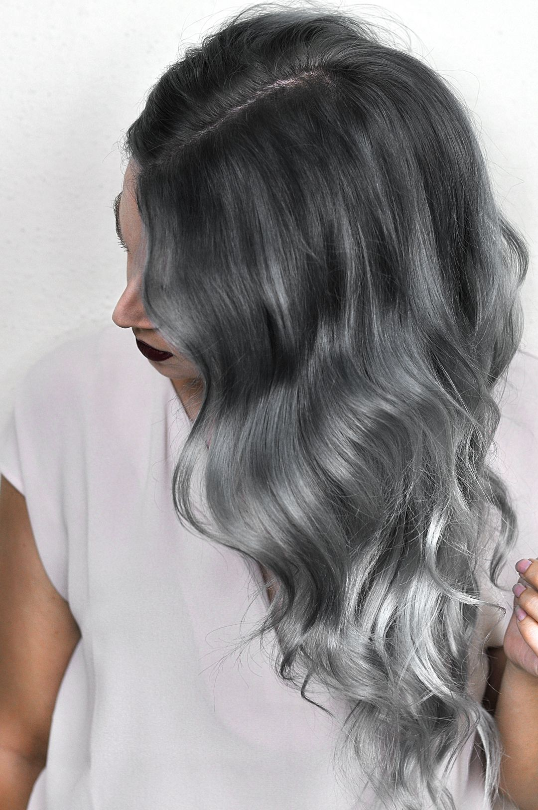 Silver Ombre Hair Dye Tutorial With Overtone Mayalamode Silver Ombre Hair Overtone Hair Color White Ombre Hair