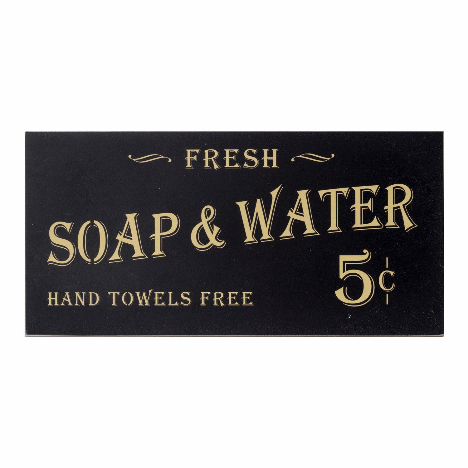 Vintage Bathroom Signs Decor Soap And Water Sign Farmhouse