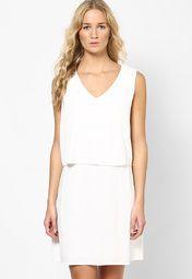 Off White Sleeveless Dress