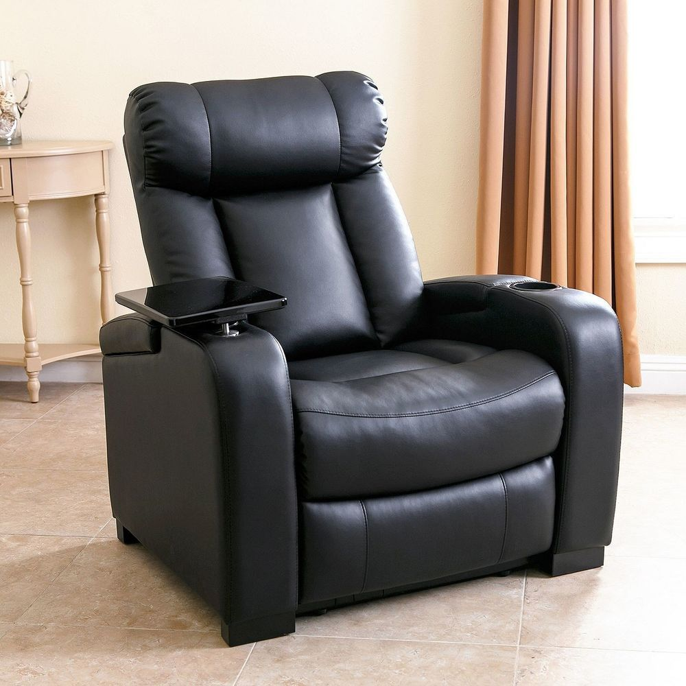 Home Theater Seating Recliner Chair With Cup Holder Chairs