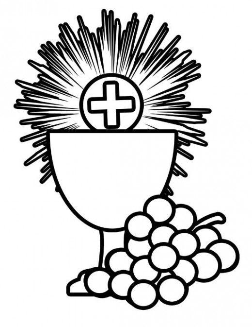 Catholic Coloring Page Holy Sacraments - Body & Blood of Jesus ...