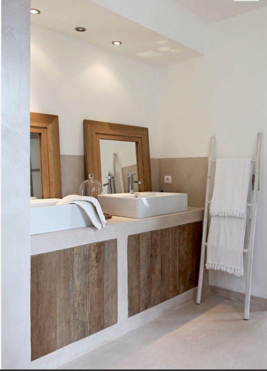 carrelage recouvert de béton ciré | salle de bain | pinterest