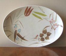 Vintage Redwing Pottery Random Harvest Serving Platter at whimsicalvintage.rubylane.com