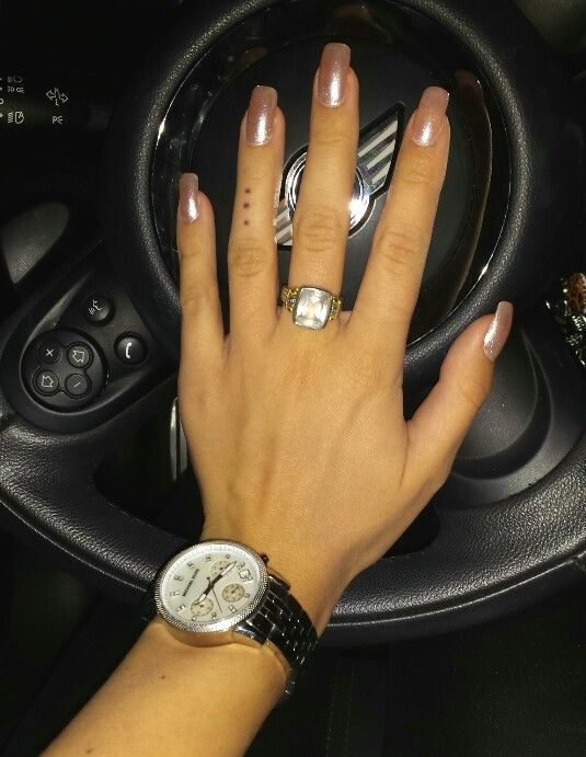 Champagne Square Nails. Bubble Bath and Happy Anniversary by OPI ...