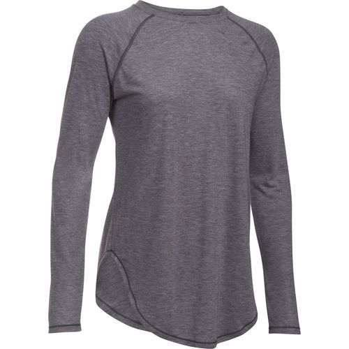 Under Armour Women's Breathe Open Back Studio Long Sleeve Shirt (Grey Dark, Size Large) - Women's Athletic Apparel, Women's Athletic Performance To...