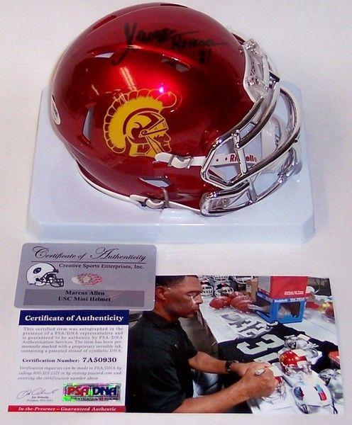 Marcus Allen Autographed Hand Signed USC Trojans Chrome Speed Mini Helmet - PSA/DNA