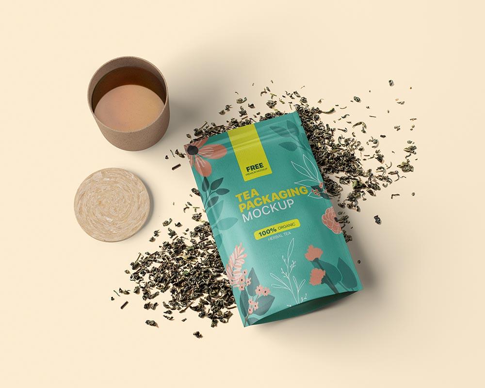 Free Tea Packaging Mockup Psd Mockuptree In 2021 Packaging Mockup Tea Packaging Tea Packaging Design