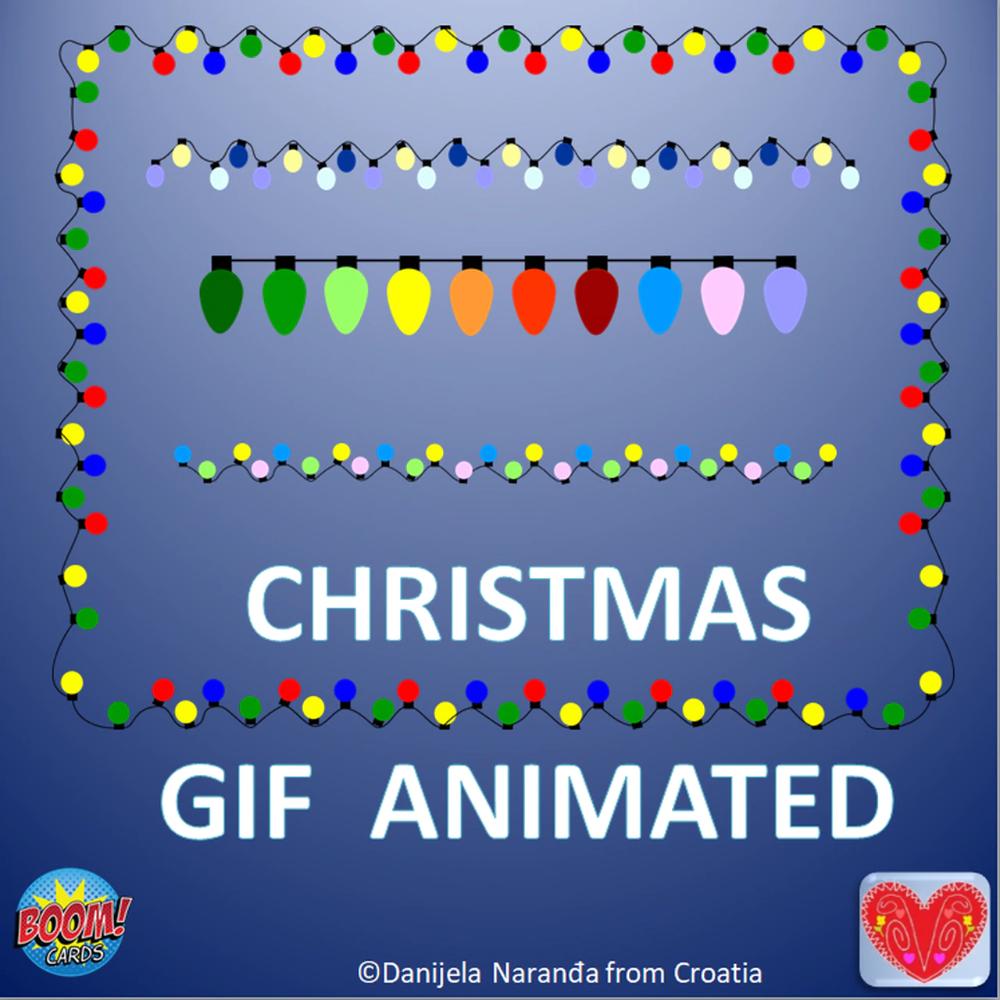 Winter Christmas Gif Animations Lights Set Christmas Gif Animated Christmas Decorations Winter Christmas