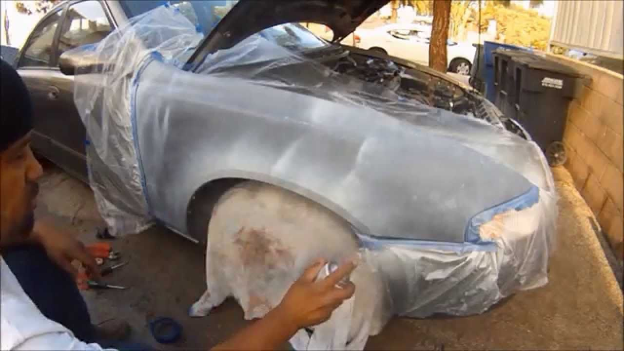 In This Tutorial I Show How To Paint A Rusty Fender With Spray Cans Only Car Painting Rusty Cars Auto Body