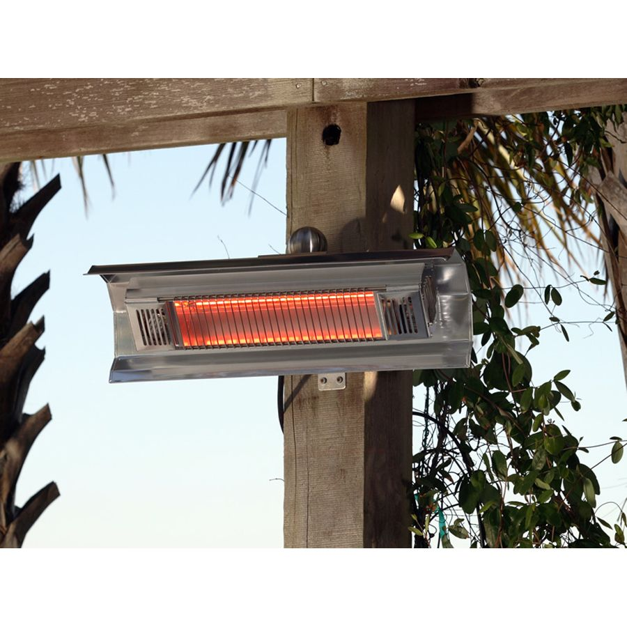 Tempe Wall Heater Stainless Steel Wall Mounted Heater Outdoor Heaters Outdoor Heating